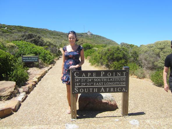 Bronwyn Taylor - visiting Cape Point
