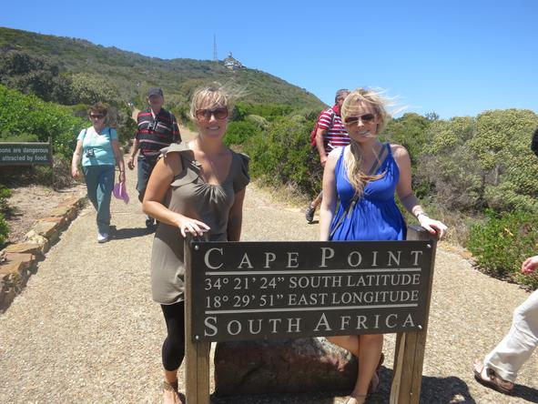 Hazel Stuart - enjoying the views at Cape Point
