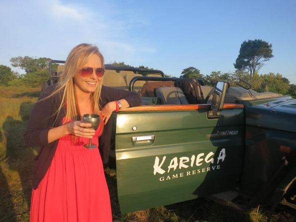 Lara Schenk - on safari at Kariega