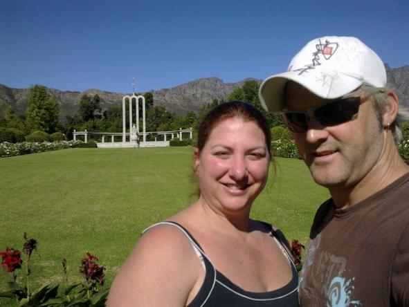 Sharon Kemp - at the Franschhoek Memorial