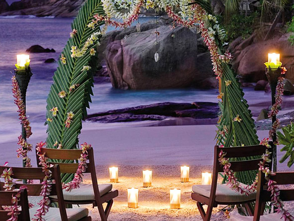 Seychelles Island Honeymoon Retreat - Wedding setting