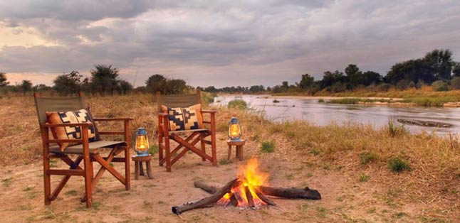 Botswana Seasonal Guide - relax around the fire