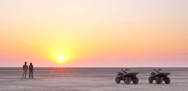 Botswana Seasonal Guide - quadbiking in the Kalahari