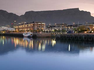 Africa's Famous Places - Table Mountain at sunset