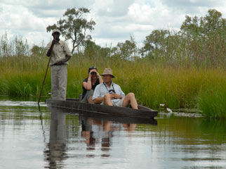 Romantic Escapes - drift through the Delta in a mokoro