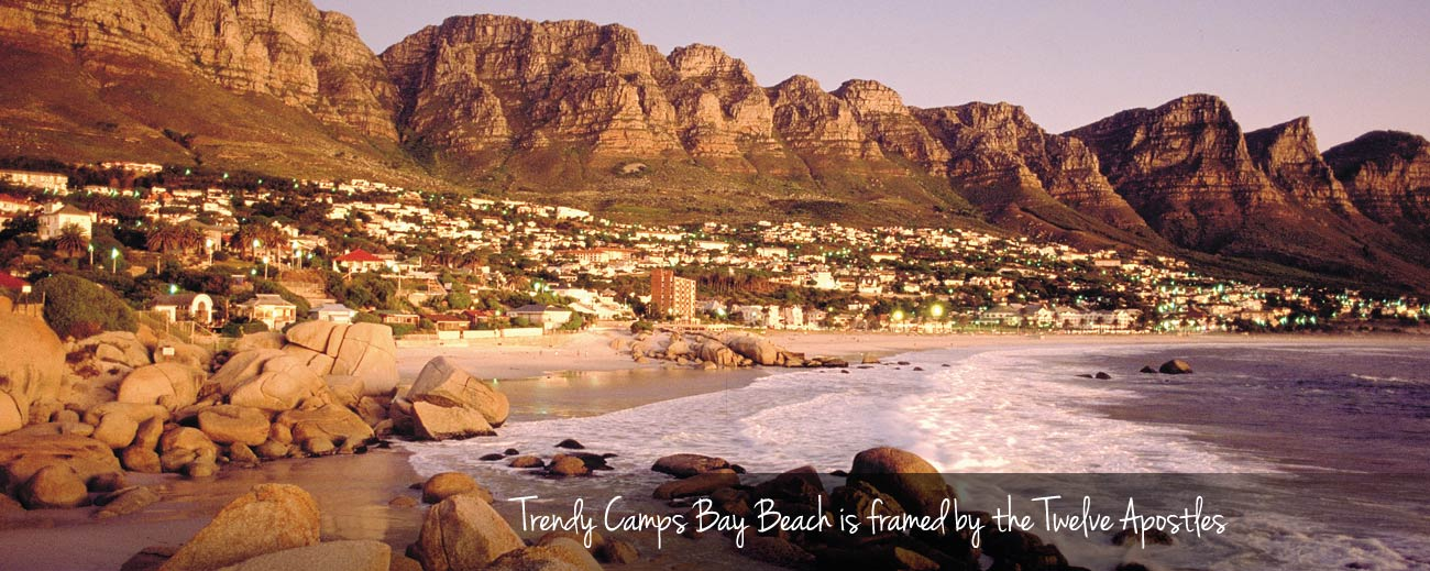 Cape Town's Best Beaches - Camps Bay in the evening light