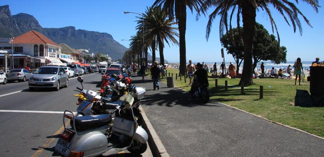 Cape Town's Best Beaches - transition from beach to cafe in Camps Bay