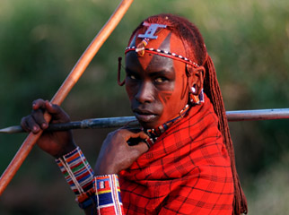 East vs Southern Africa Safaris - a young Maasai warrior in Kenya