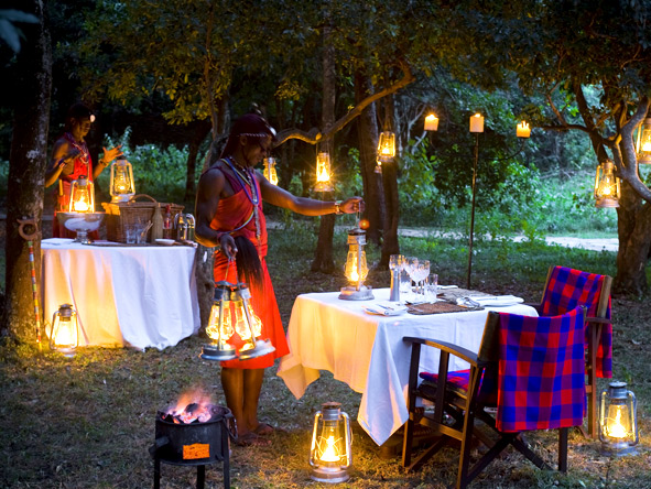 Luxury Migration, Lake & Crater Safari - Romantic candlelit dinners