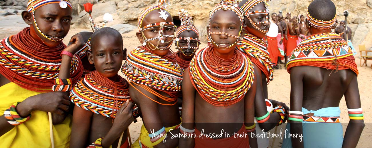 Kenya Safari Guide - samburu children in traditional dress