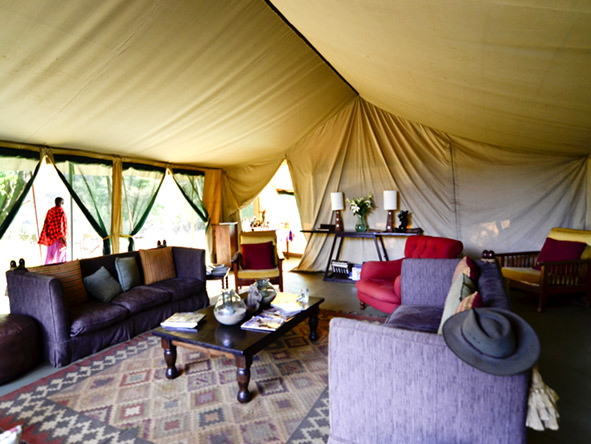 Nairobi Tented Camp - Lounge tent