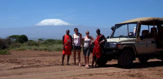 Our Latest Travels Kenya & Tanzania - beautiful Mount Kilimanjaro as the backdrop to our safari