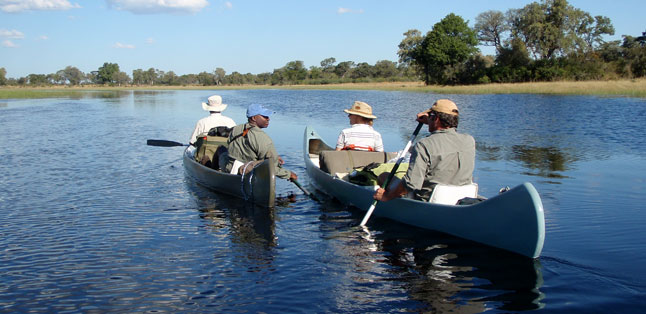 The Road Less Travelled - paddling along the Selinda Canoe Trail in northern Botswana