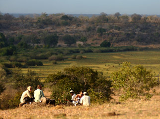 The Road Less Travelled - taking in the scenery of the vast Selous Game Reserve in Tanzania
