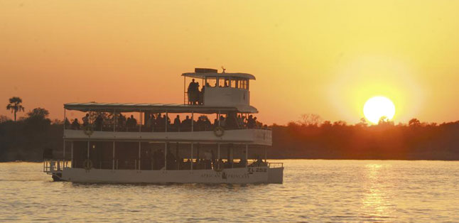 Victoria Falls Activities - sunset cruises on the Zambezi River