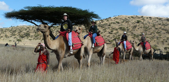 Teens in Africa - unique activities - like camel safaris in Kenya - offer unforgettable experiences