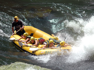 Teens in Africa - Experience the adrenalin of white-water rafting at Vic Falls