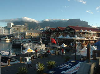 Teens in Africa - The V&A Waterfront, Cape Town's shopping mecca.