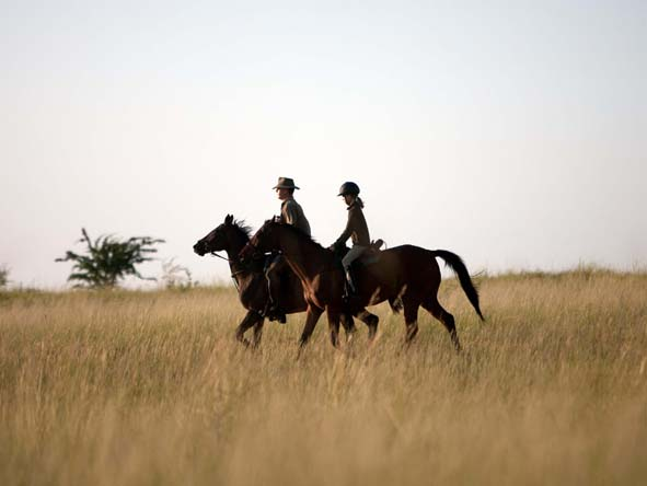 Several Kalahari camps offer horseback safaris, an exhilarating way to view big game close up.