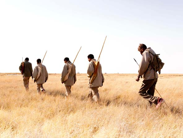 Kalahari lodges offer the chance to join a San Bushman tracking party & learn about survival in this ancient landscape.