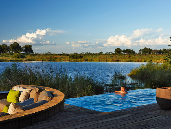Luxury Botswana Wilderness Honeymoon - King's Camp swimming pool