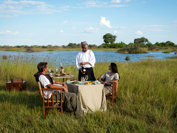 Luxury Botswana Wilderness Honeymoon - Decadent bush meals