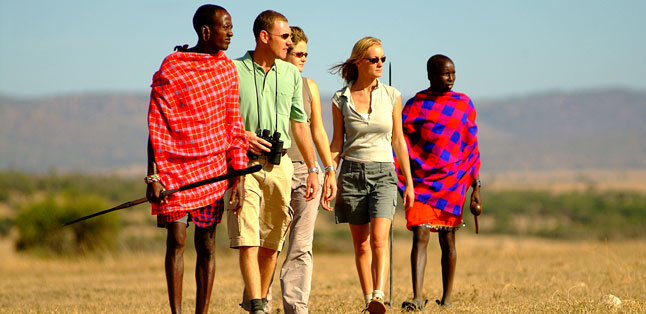 Africa Safari Guides - a walking safari with local Maasai guides is a highlight on a Kenya safari