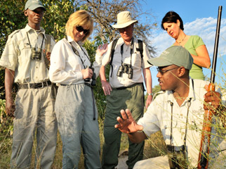 Africa Safari Guide - rangers are always properly outfitted on a guided walking safari