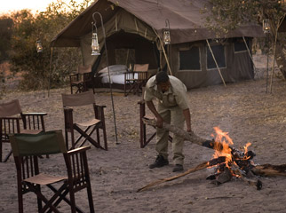Africa Safari Guides - many guides take part in the day-to-day running of a safari camp