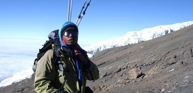 Climbing Kili - make sure you have an experienced, registered guide with you on your trek