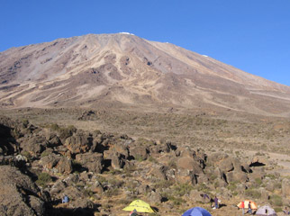 Climbing KIli - although it might appear easy, the altitude is the real challenge