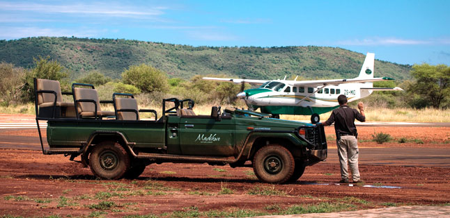 Safari Vehicles - flying into a reserve means you go straight from plane into safari vehicle