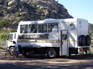 Safari Vehicles - overland trucks can seat up to 24 passengers at a time