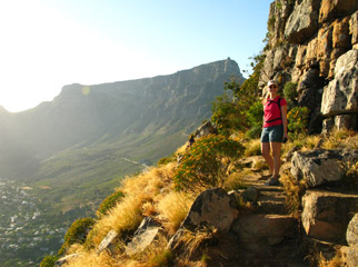 Visiting South Africa - fabulous hiking trails can be enjoyed all over, including Cape Town