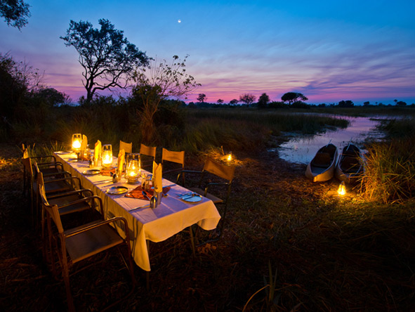 Vic Falls & Botswana Migration Safari - Outdoor dining