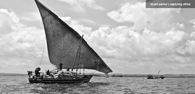 Carrying coal, this hard-working dhow had come from the mainland.
