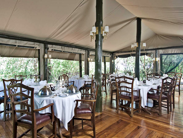 Kirawira Luxury Tented Camp - Fine dining