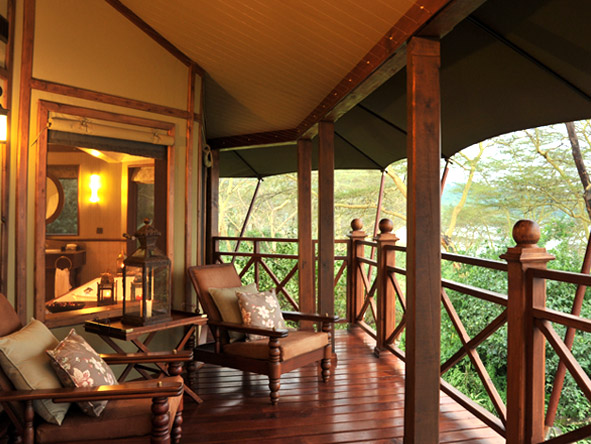 Lake Elmenteita Serena Camp - Private verandahs