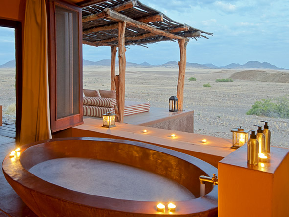 Okahirongo Elephant Lodge - Outdoor bath
