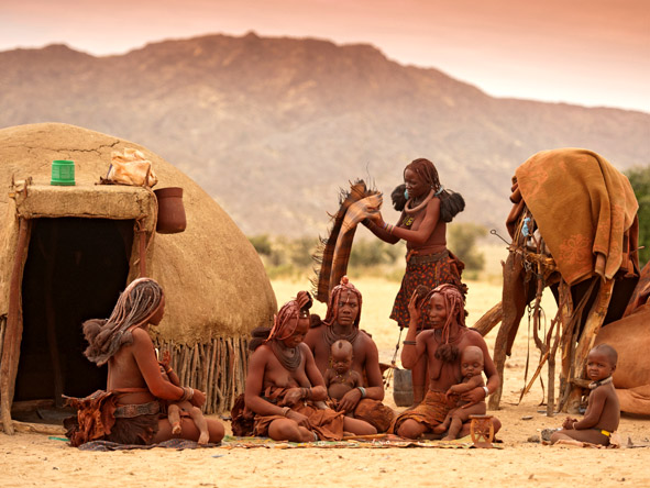 Okahirongo River Camp - Himba people