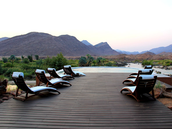 Okahirongo River Camp - Deck views