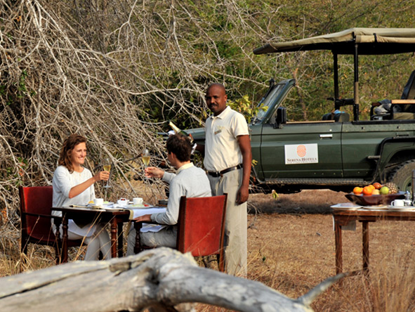 Selous Luxury Camp - Bush meals