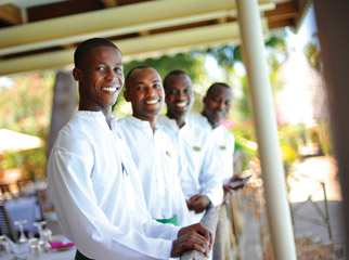 Service on the Kenya coast always comes with a smile.