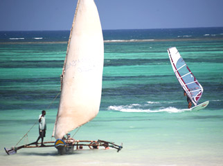 The Kenya coast is made for watersports.