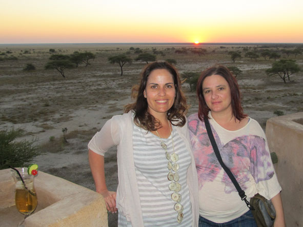 Anza Snyman - with colleague Liesel in Namibia