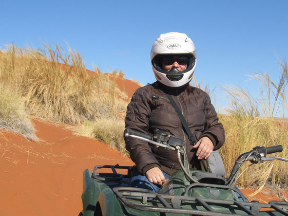 Anza Snyman - quadbiking in the dunes