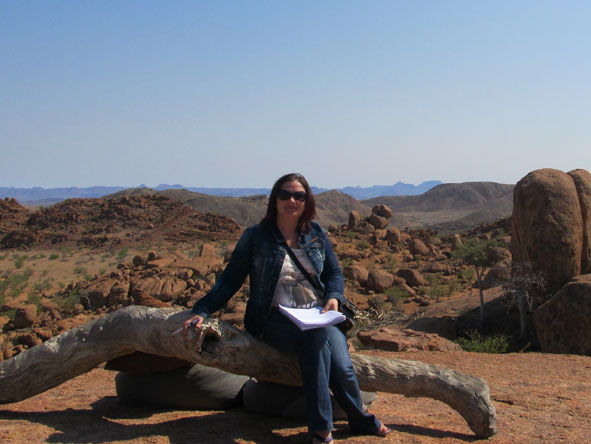 Anza Snyman - in Damaraland, Namibia
