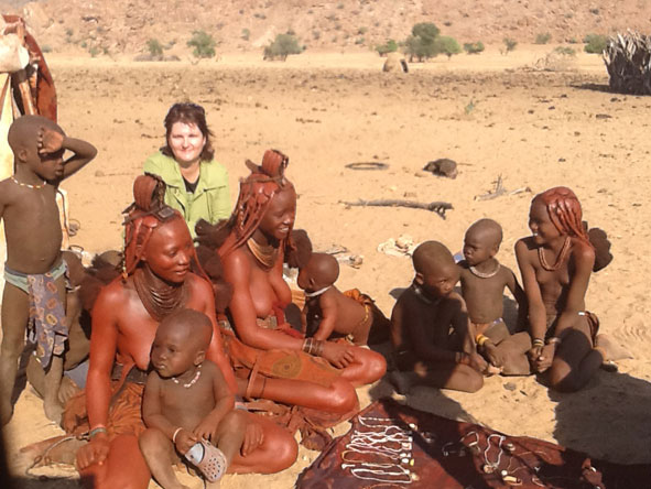 Madelein Norval - meeting the Himbas in Namibia