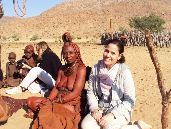 Liesel van Zyl - meeting the Himbas in Namibia
