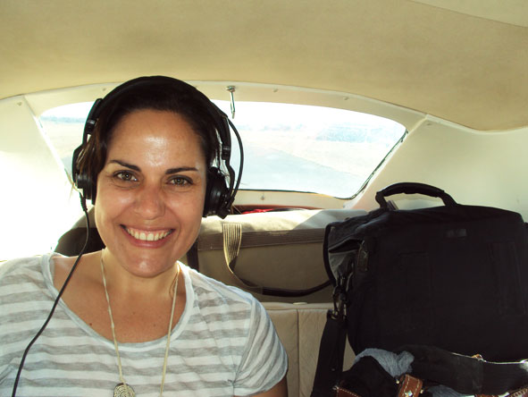 Liesel van Zyl - taking to the skies in a 6-seater Cessna